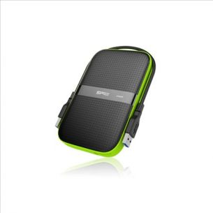 SILICON POWER 1TB, PORTABLE HARD DRIVE ARMOR A60, BLACK